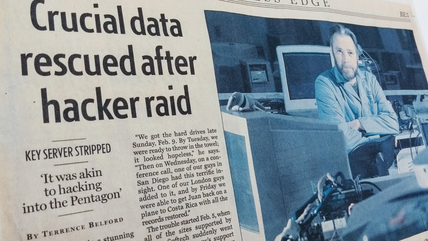 Throwback: A Data Recovery That Had Everything From Russian Hackers to Ransomware