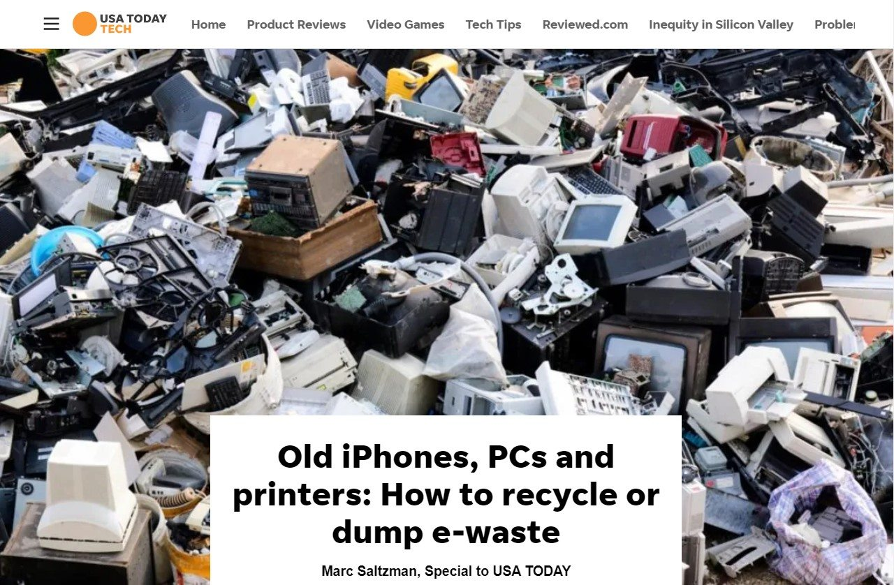 On the E-Waste Case: USA Today#TechTip