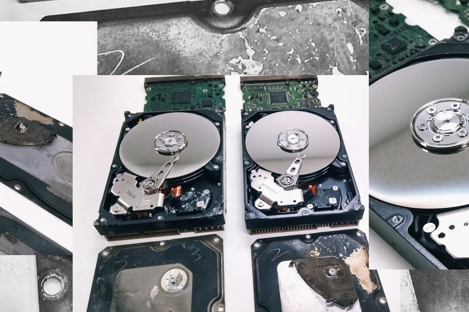 CBL Pictures: Easy to See Not-So Hot Fate for Not-So Burnt HardDrives