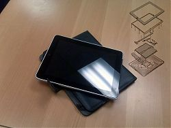 recent customer's iPad dropped off for recovery with teardown diag